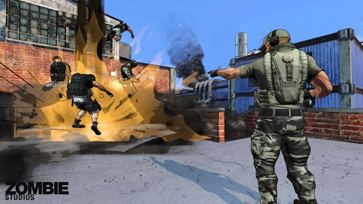 Yup, you can taunt enemies in Special Forces: Team X. Doing so normally results in you getting your smug face shot.