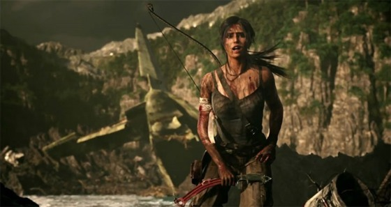 The new Lara Croft, already looking a bit bruised and battered.
