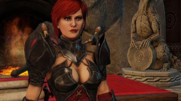 You know it's a fantasy RPG when armor is designed soley for displaying women's cleavage