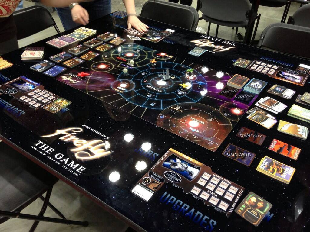 Gale Force Nine showing off with a custom table for the game.