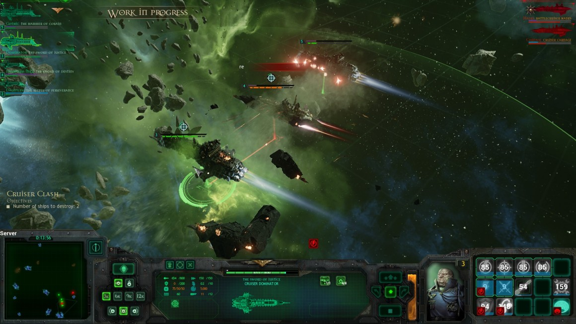 Caught in a crossfire between two Imperial Cruisers, the Chaos ship doesn't stand much chance.