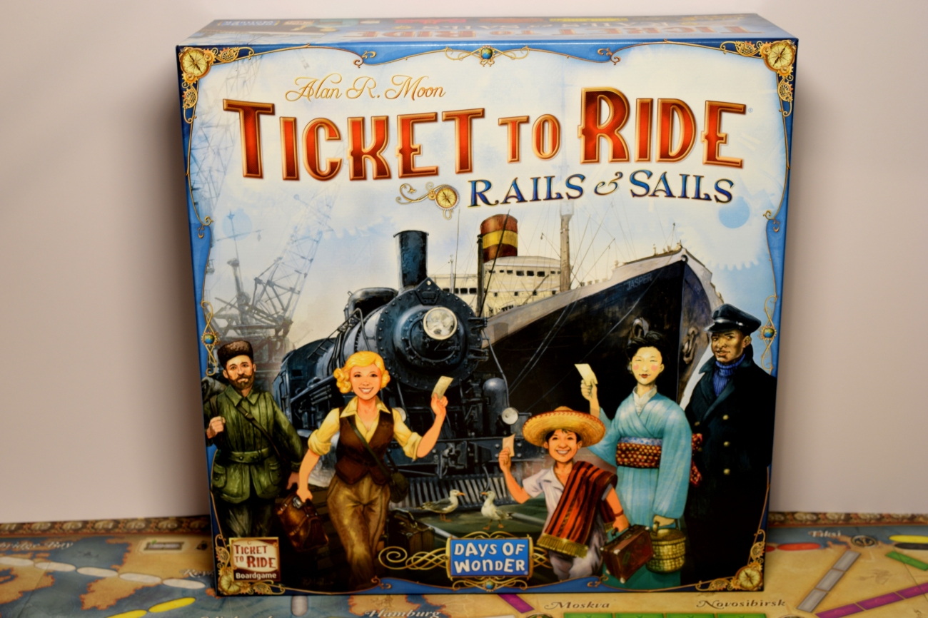 Ticket to Ride: Rails & Sails box, from Days of Wonder.