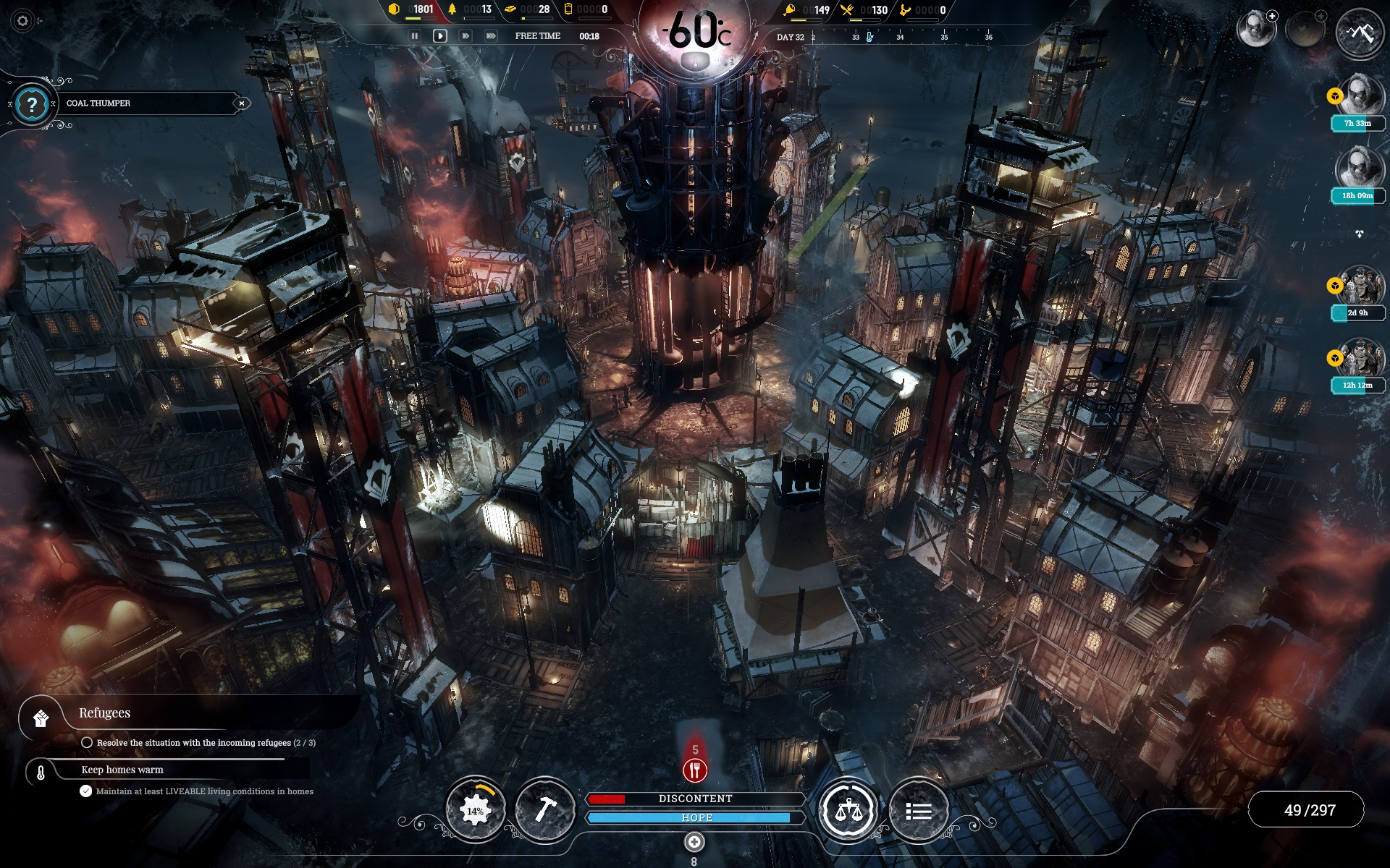 Frostpunk for PC is one of the best games of 2018.
