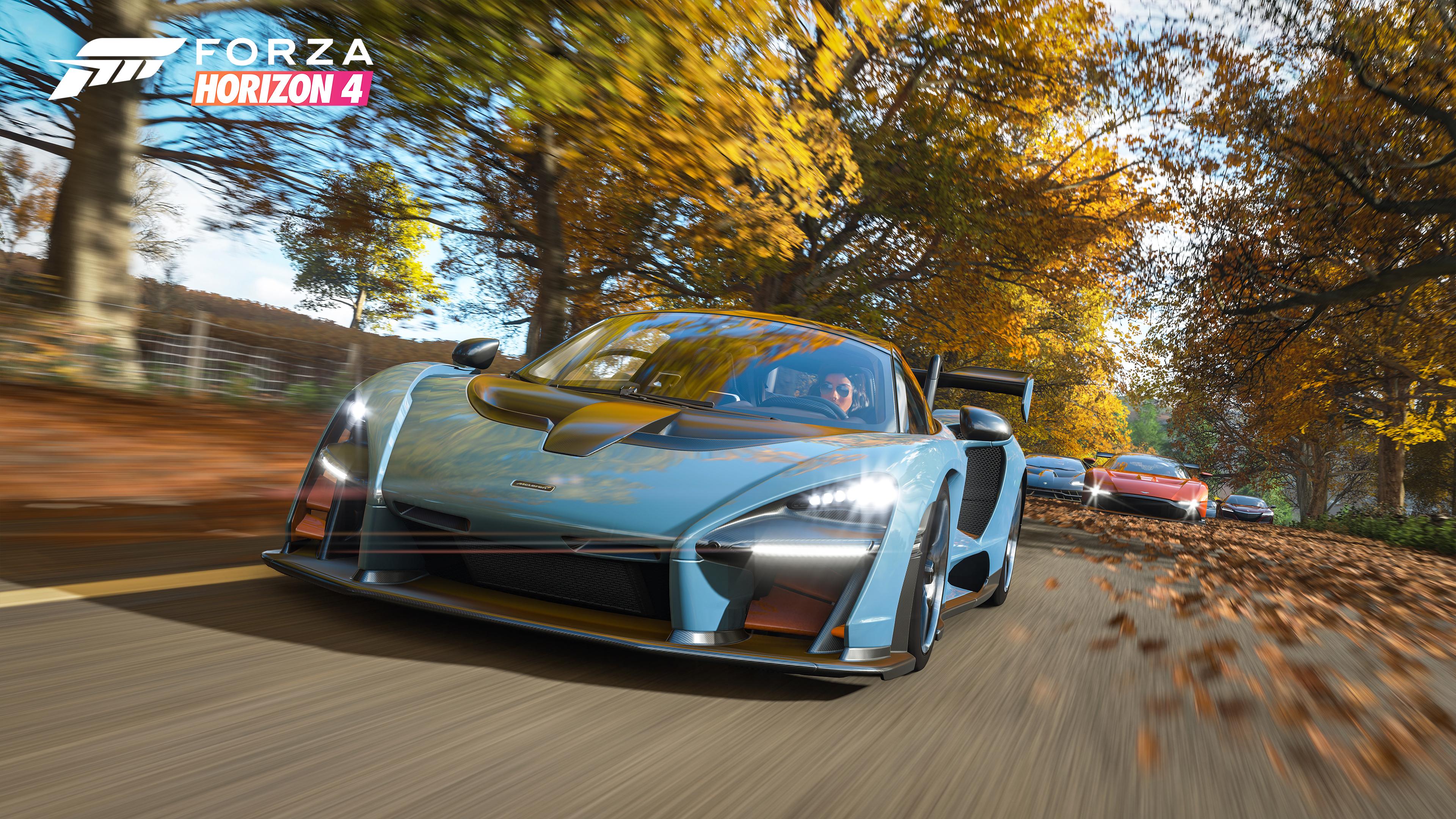 Forza Horizon 4 Senna in the Autumn looks amazing.