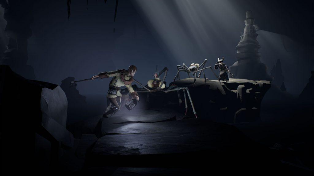Ashen - Hero fights spider-like creatures