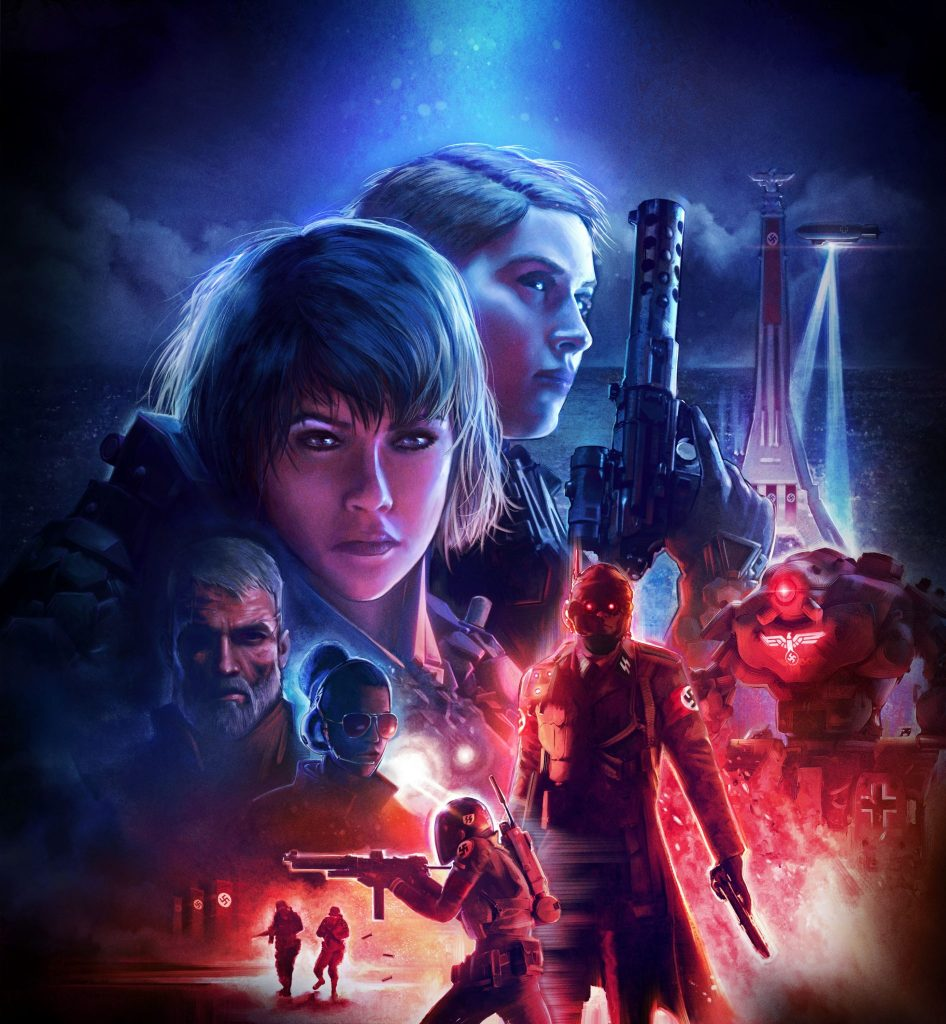 The official artwork for Wolfenstein: Youngblood from Bethesda, Machine Games and Arkane.