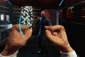 A fist fight in Defector for Oculus Rift