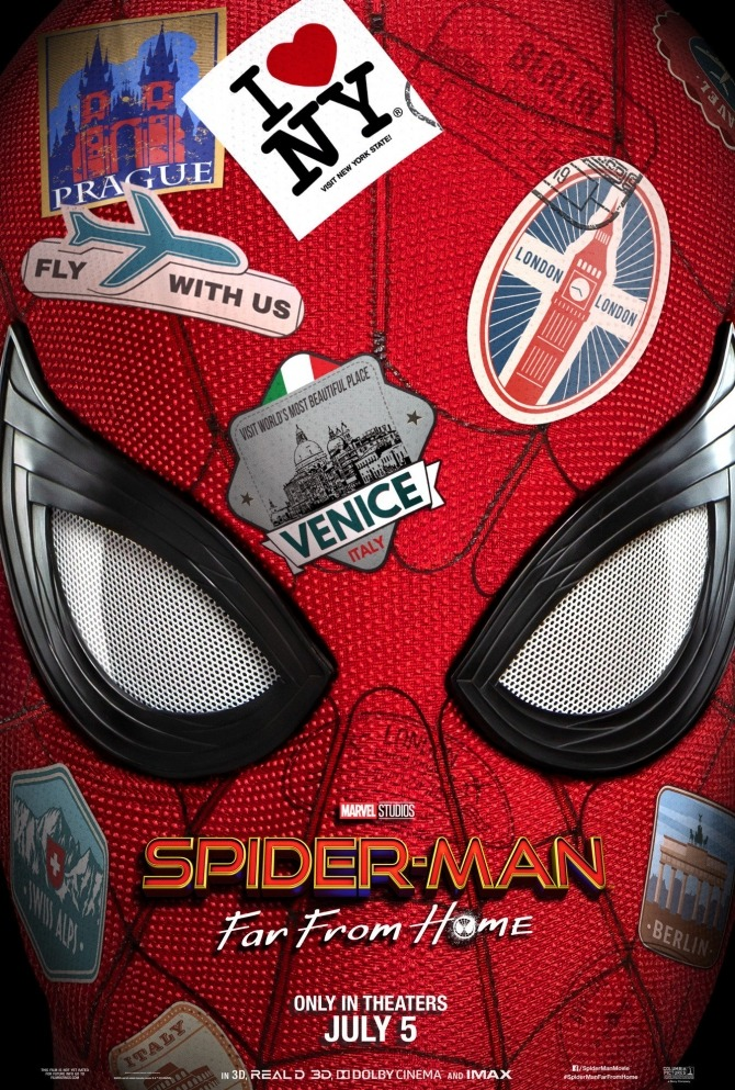 The official Spider-Man: Far From Home poster